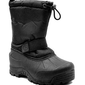 New NORTHSIDE Toddler Kids Black Winter Snow Boots